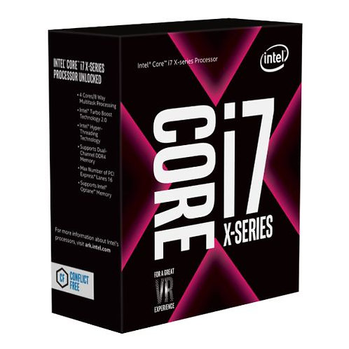 Intel Core I7-7740X CPU, 2066, 4.30GHz (4.5 Turbo), Quad Core, 112W, 8MB Cache,