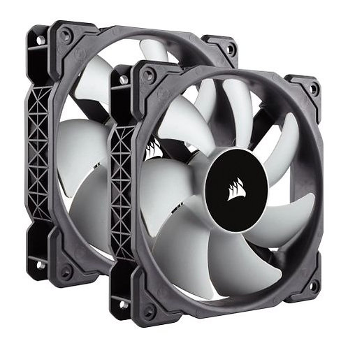 Corsair ML120 Premium 12cm PWM Case Fans x2, 12cm, Magnetic Levitation Bearing,