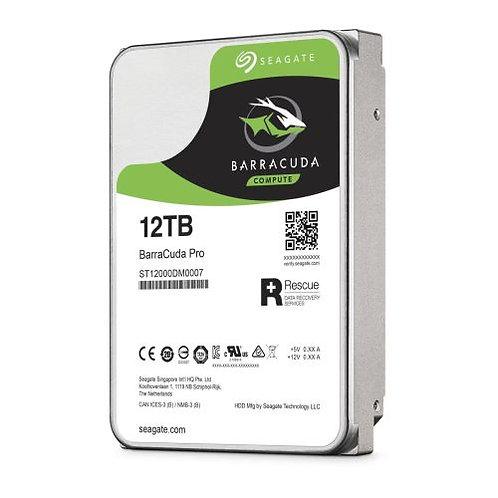 "Seagate 3.5"", 12TB, SATA3, BarraCuda Pro Hard Drive, 7200RPM, 256MB Cache, 2 Yr"