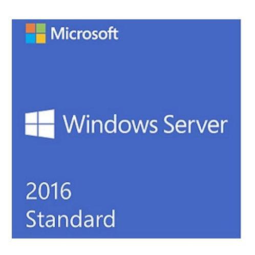 Microsoft Windows Server 2016 Standard, x64, 16 Core, English, 1 Pack, DSP, OEM