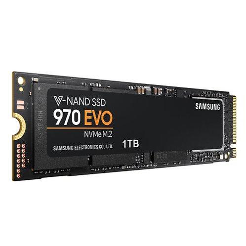 Samsung 1TB 970 EVO M.2 NVMe SSD, M.2 2280, PCIe, V-NAND, R/W 3400/2500 MB/s