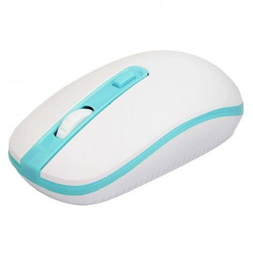 Approx APPWMVWLB Wireless Optical Mouse, 800 - 1600 DPI, Nano USB, White & Blue