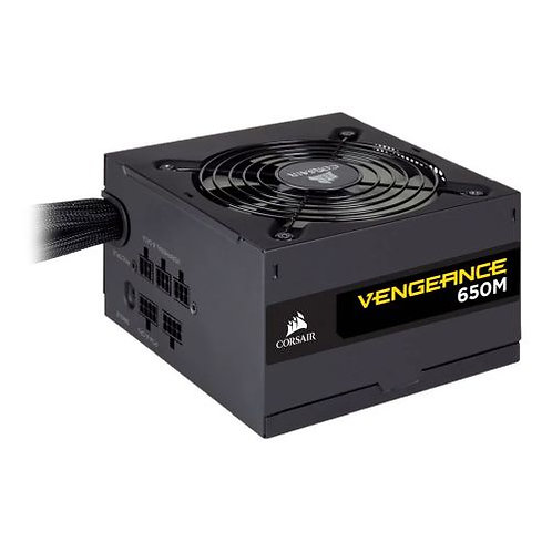Corsair 650W Vengeance Series 650M PSU, Sleeve Bearing Fan, Semi-Modular, 80+ S
