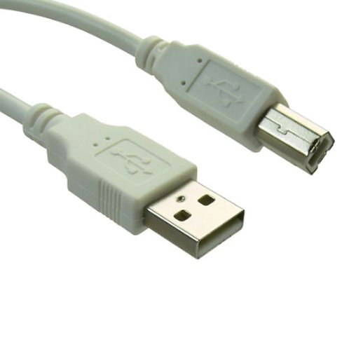 Sandberg USB 2.0 A to B Printer Cable, Male to Male, 2 Metres, Clear Bag Packag