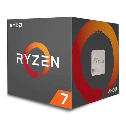 AMD Ryzen 7 2700X CPU with Wraith Cooler, AM4, 3.7GHz (4.3 Turbo), 8-Core, 105W
