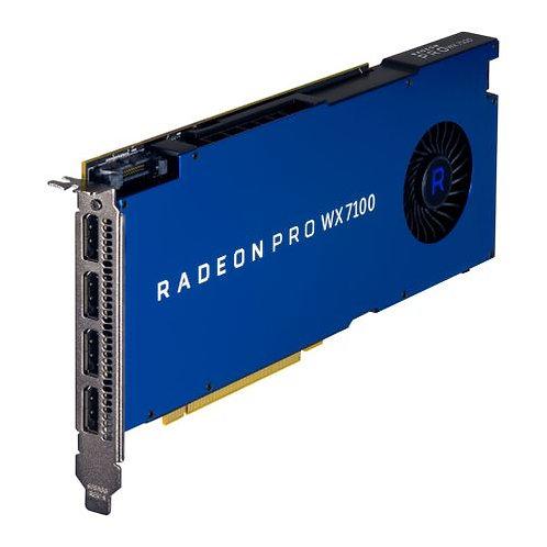 AMD Radeon Pro WX 7100 Professional Graphics Card, 8GB DDR5, 4 DP 1.4, 1080MHz