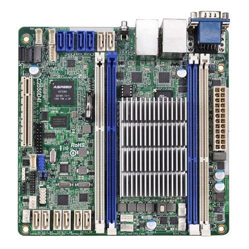 Asrock Rack C2550D4I Server Board, Integrated CPU, Mini ITX, Dual GB LAN, Seria