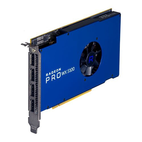 AMD Radeon Pro WX 5100 Professional Graphics Card, 8GB DDR5, 4 DP 1.4 (2 x DVI