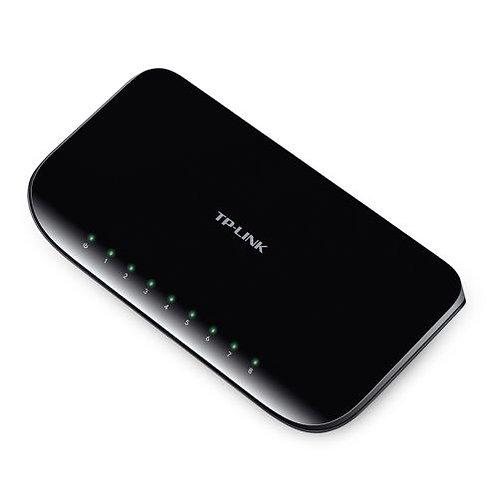 TP-LINK (TL-SG1008D V8) 8-Port Gigabit Unmanaged Desktop Switch, Plastic Case