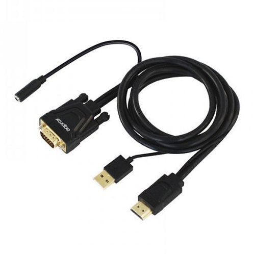 Approx HDMI Male to VGA Male Converter Cable with Audio