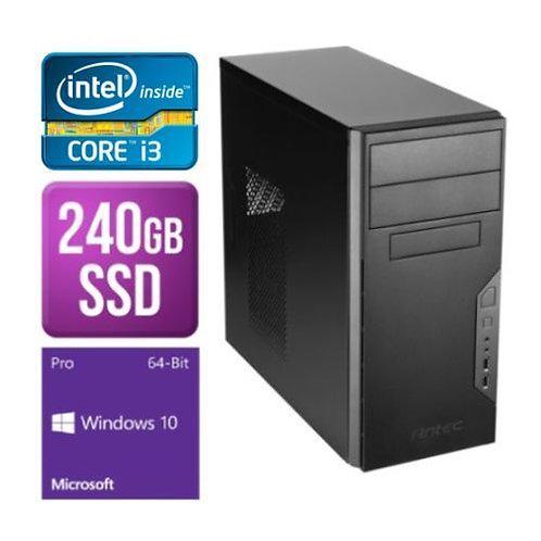 Spire Tower PC, Antec VSK3000B, i3-8100, 8GB, 240GB SSD, Corsair 450W, DVDRW, K