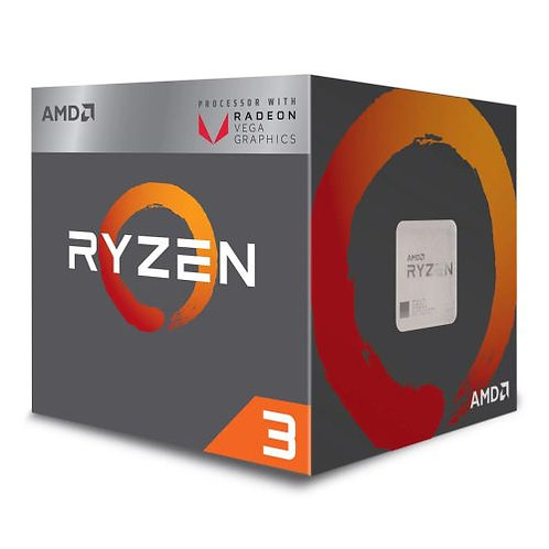 AMD Ryzen 3 2200G CPU with Wraith Cooler, AM4, 3.5GHZ, Quad Core, 65W, 6MB Cach