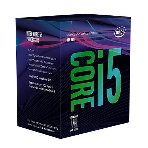 Intel Core i5-8400 CPU, 1151, 2.8 GHz (4.0 Turbo), 6-Core, 65W, 14nm, 9MB Cache