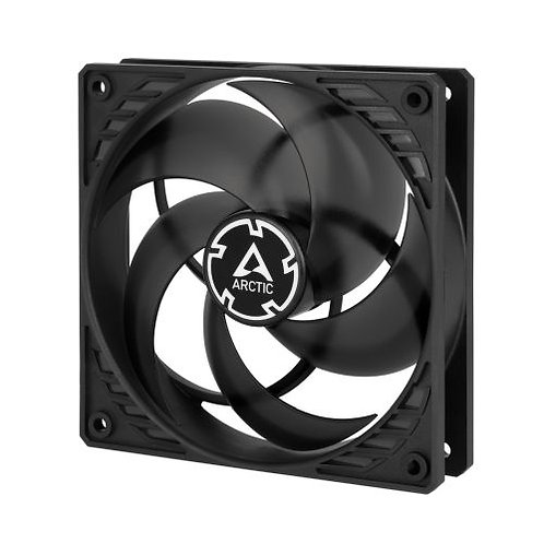 Arctic P12 12cm Pressure Optimised PWM PST Case Fan, Black & Transparent, Fluid