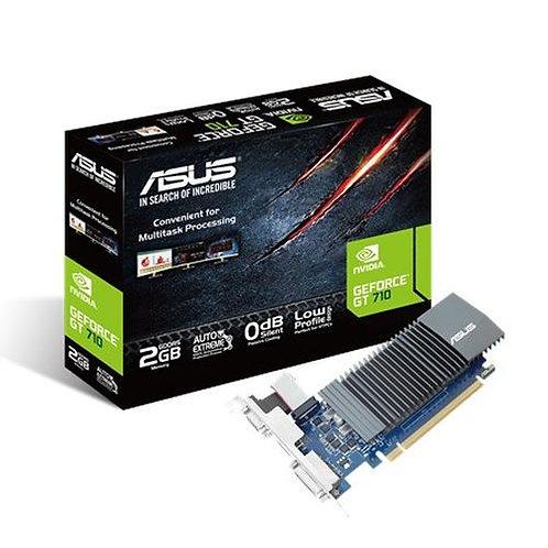 Asus GT710, 2GB DDR5, PCIe2, VGA, DVI, HDMI, Silent