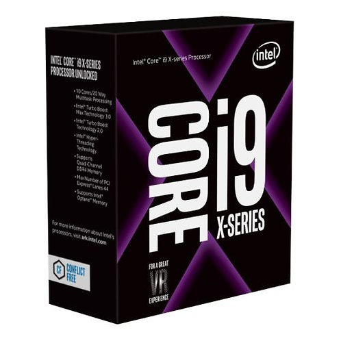 Intel Core I9-7920X CPU, 2066, 2.9GHz (4.3 Turbo), 12-Core, 140W, 16.5MB Cache,