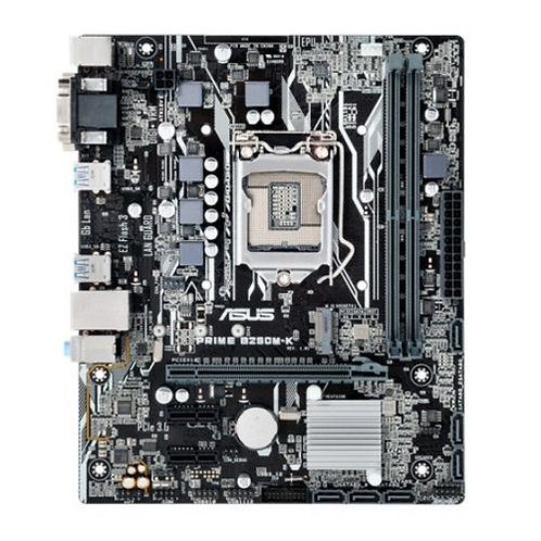 Asus PRIME B250M-K, Intel B250, 1151, Micro ATX, DDR4, VGA, DVI, M.2, LED Light