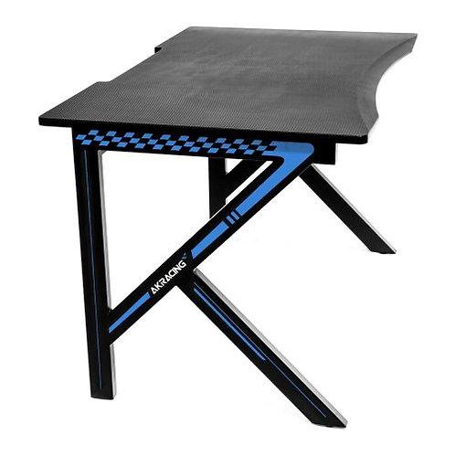 AKRacing Summit Gaming Desk, Black & Blue, Steel Frame, Cable Management, Gamin