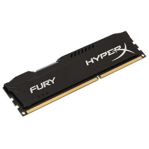 HyperX Fury Black 4GB, DDR3, 1600MHz (PC3-12800), CL10, DIMM Memory