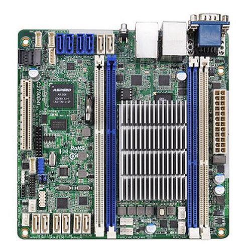 Asrock Rack C2750D4I Server Board, Integrated CPU, Mini ITX, Dual GB LAN, Seria