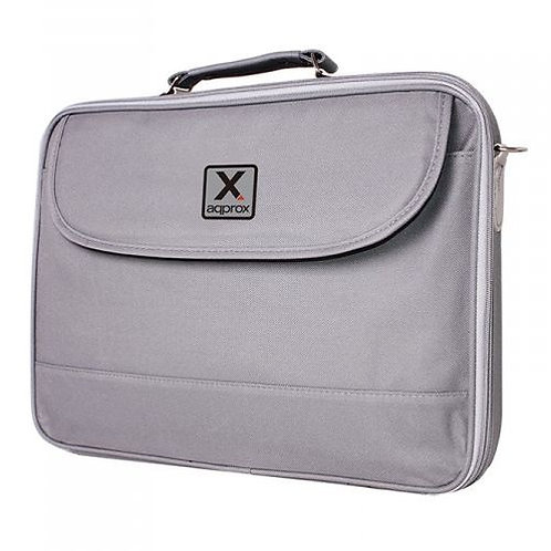 """Approx (APPNB15G) 15.6"""" Laptop Carry Case, Multiple Compartments, Padded, Grey,"""