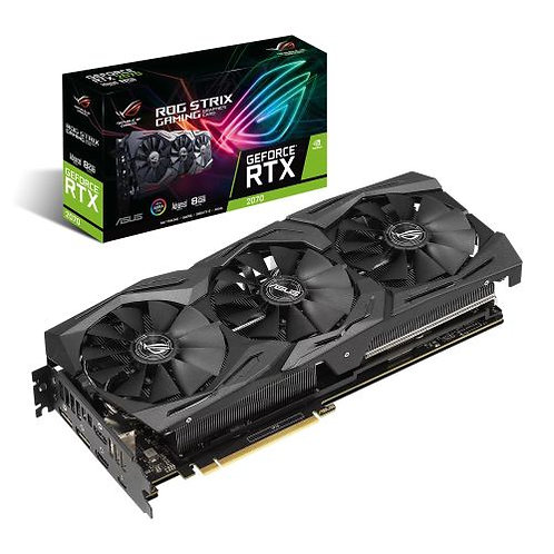 Asus ROG STRIX RTX2070 Advanced, 8GB DDR6, 2 HDMI, 2 DP, USB-C, 1680MHz OC, RGB