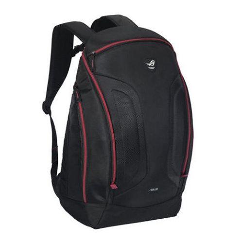 "Asus ROG SHUTTLE II 17"" Backpack, Oversized Interior, Water Resistant, Black &"