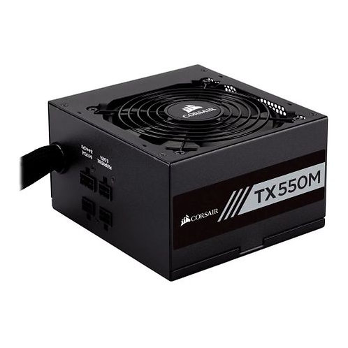 Corsair 550W Enthusiast TX-M Series TX550M PSU, Rifle Bearing Fan, Semi-Modular