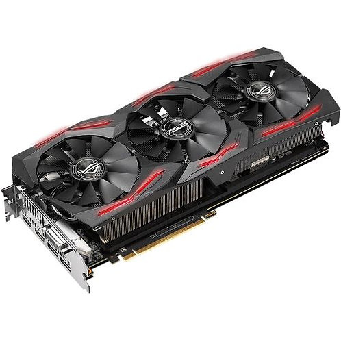 Asus Radeon ROG STRIX RX VEGA64, 8GB HBM2, DVI, 2 HDMI, 2 DP, 1590MHz Clock, RG