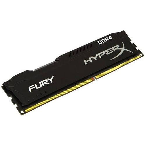 HyperX Fury Black 4GB, DDR4, 2400MHz (PC4-19200), CL15, 1.2V, XMP 2.0, DIMM Mem