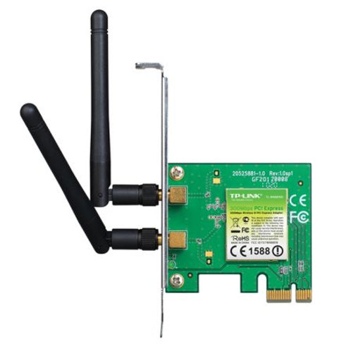 TP-LINK (TL-WN881ND) 300Mbps Wireless N PCI Express Adapter, 2 Detachable Anten