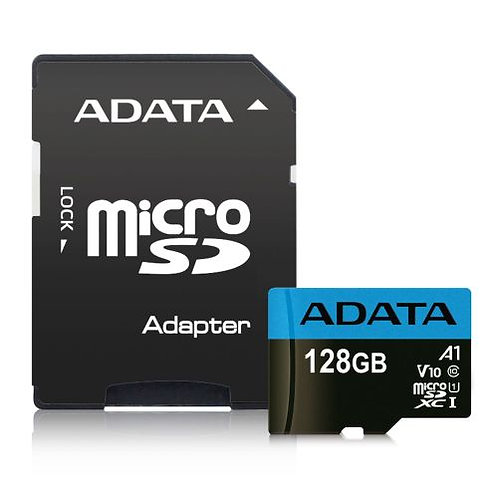 ADATA 128GB Premier Micro SDXC Card with SD Adapter, UHS-I Class 10 with A1 App