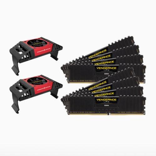 Corsair Vengeance LPX 128GB Memory Kit (8 x 16GB) with Vengeance Airflow Cooler