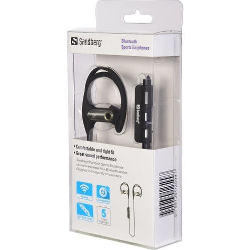 Sandberg Wireless Sports Earphones, Bluetooth, Inline Volume & Mic, 10mm Driver
