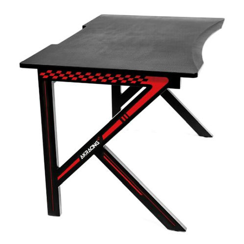AKRacing Summit Gaming Desk, Black & Red, Steel Frame, Cable Management, Gaming