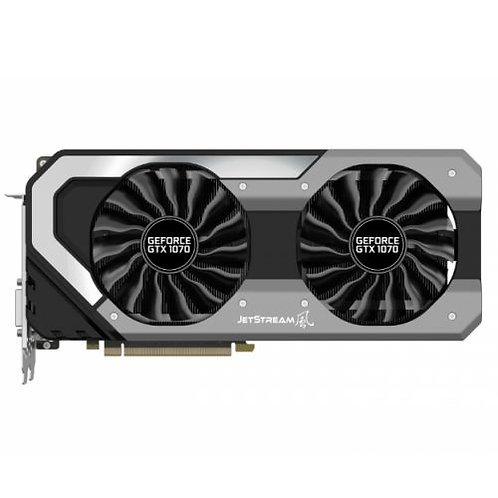 Palit GTX1070 JetStream, 8GB DDR5, PCIe3, DVI, HDMI, 3 DP, 1683MHz, RGB Lightin