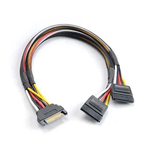 Akasa SATA Power Splitter - Male 15-pin SATA to 2 x 15pin SATA Female Power Con