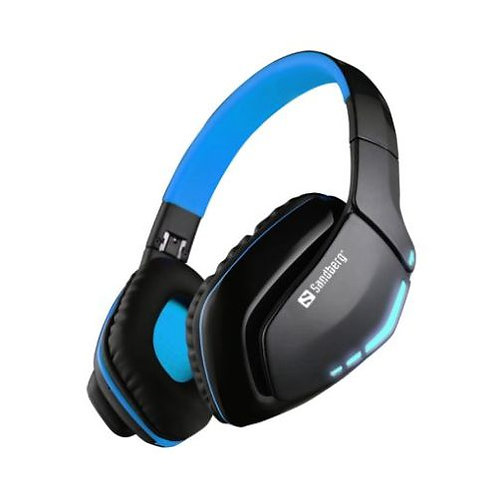 Sandberg Blue Storm Bluetooth Headset, Microphone, 40mm Driver, Foldable, Black
