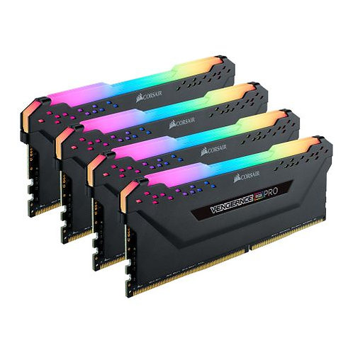 Corsair Vengeance RGB Pro 32GB Memory Kit (4 x 8GB), DDR4, 3200MHz (PC4-25600),