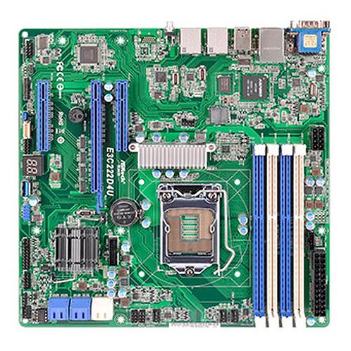 Asrock Rack E3C222D4U Server Board, Intel C222, 1150, Micro ATX, Dual GB LAN, I