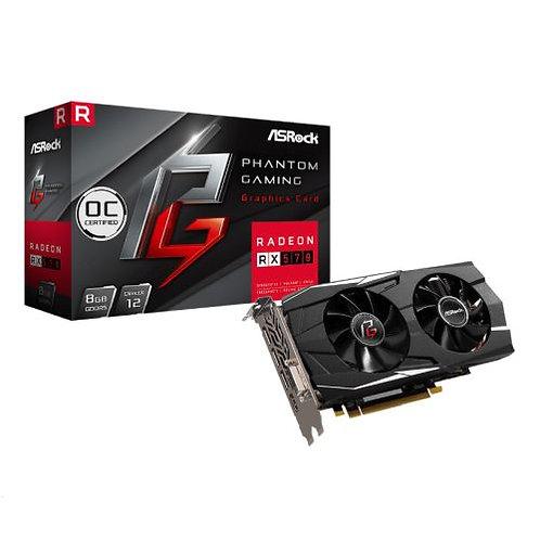 Asrock Phantom Gaming D Radeon RX570 8G OC, 8GB DDR5, PCIe3, DVI, HDMI, 3 DP, 1