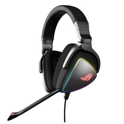 Asus ROG DELTA RGB Gaming Headset, USB-C (USB2 Adapter), Hi-Fi ESS Quad-DAC, Bo