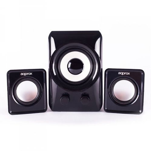 Approx (APPSP21M) 2.1 Multimedia Mini Speakers, 10W RMS, Black