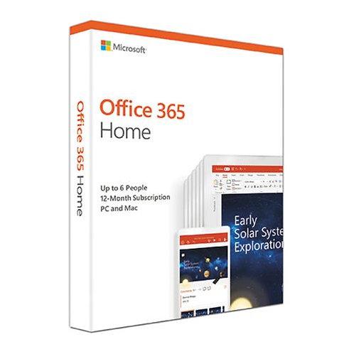 Microsoft Office 365 Home 2019, 6 Users (PCs/Macs, Tablets & Phones), 1 Year Su