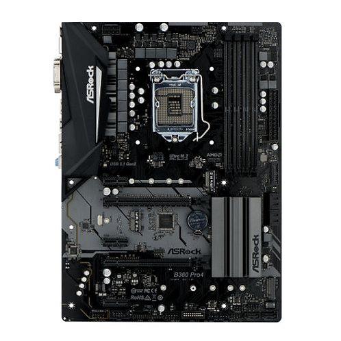 Asrock B360 PRO4, Intel B360, 1151, ATX, DDR4, VGA, DVI, HDMI, XFire, Dual M.2