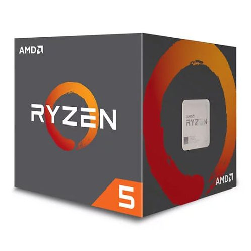 AMD Ryzen 5 2600X CPU with Wraith Cooler, AM4, 3.6 GHz (4.2 Turbo), 6-Core, 95W