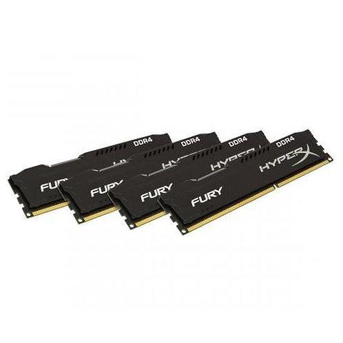 HyperX Fury Black 32GB Kit (4 x 8GB), DDR4, 2666MHz (PC4-21330), CL16, 1.2V, XM