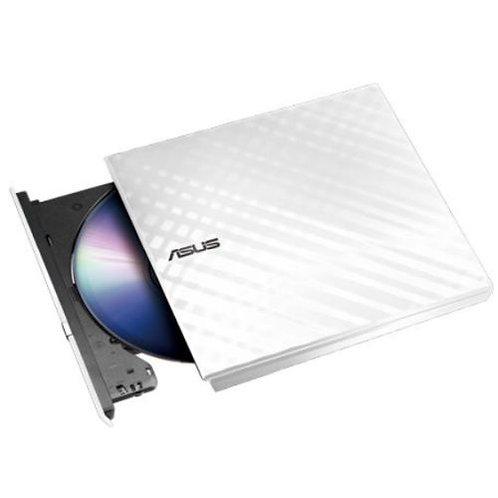Asus (SDRW-08D2S-U LITE) External Slimline DVD Re-Writer, USB, 8x, White, Cyber