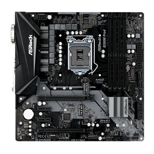 Asrock B360M PRO4, Intel B360, 1151, Micro ATX, DDR4, VGA, DVI, HDMI, XFire, Du