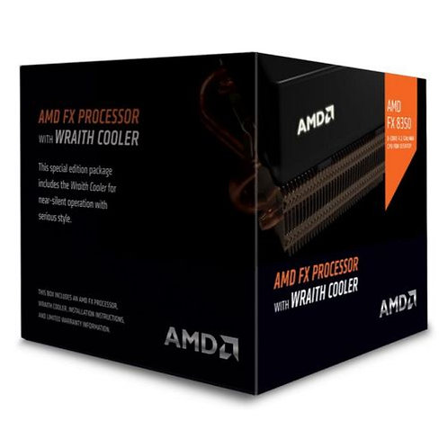 AMD FX-8350 CPU with Wraith Cooler, AM3+, 4.0GHz, 8-Core, 125W, 16MB Cache, 32n